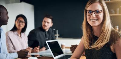 educational leadership woman smiling in classroom