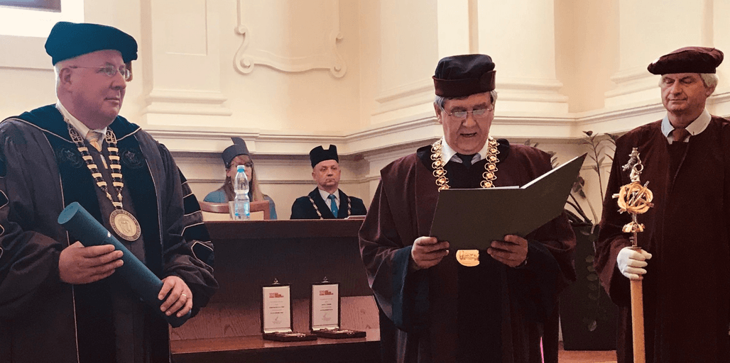 President Dr Arvid C Johnson Awarded Honorary Doctorate