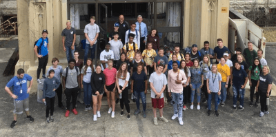USF Foundations students volunteered at the Old Joliet Prison in mid-August 2019.