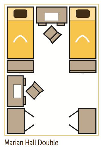 marian hall dorm layout