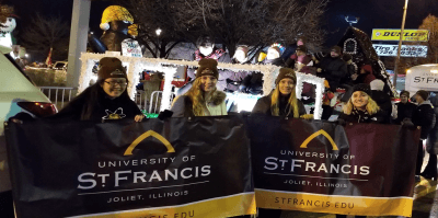 USF students at the Light Up the Holidays Parade