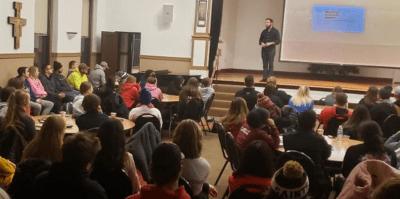 Sexual assault survivor Tim Mousseau recently spoke at USF.