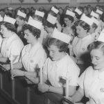 nursing students at mass