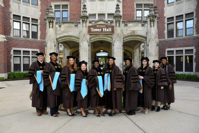 group of doctoral graduates