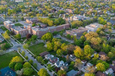 usf campus aerial shot