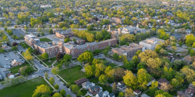Aerial image of main USF campus in Joliet
