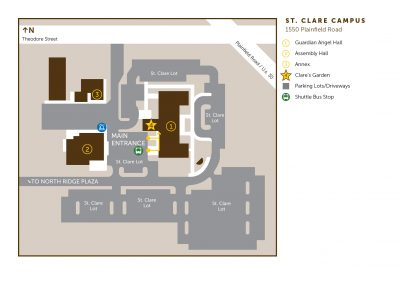 map of quest food on the usf st clare campus