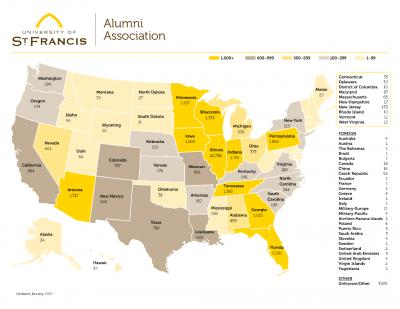 usf alumni map