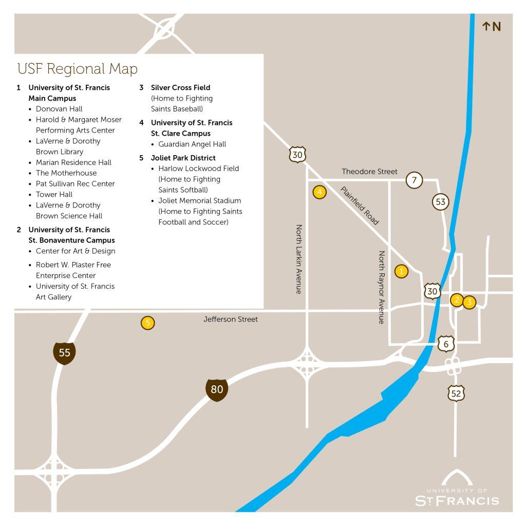 regional map of usf
