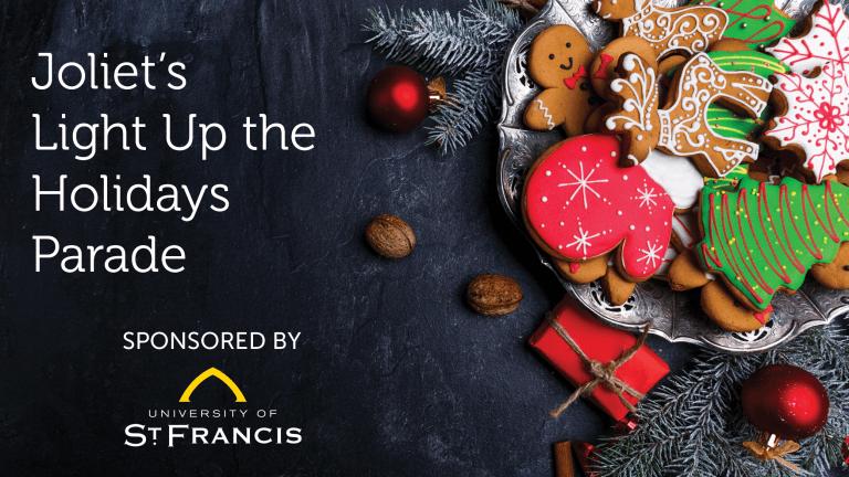 Light Up Holidays image with Christmas theme