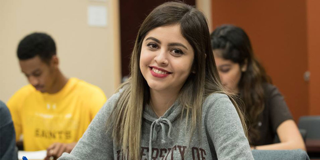 headshot of smiling student