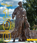 2020-21 Issue 1 magazine cover with St. Francis statue